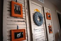 wall art with shutters