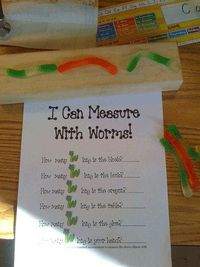 """A fun activity after reading """"Wonderful Worms"""" (Linda Glaser)"""