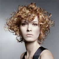Short curly gold