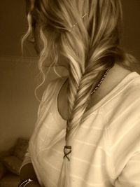 side. fishtail braid.