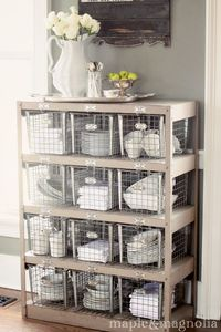 Love these gym baskets for storage