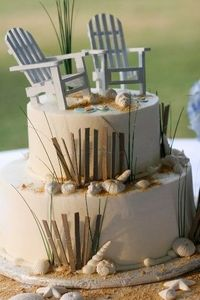 beach chairs cake