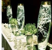 Inspiration Centerpieces : wedding green white ivory flowers reception Babys Breath Candle Centerpieces from gallery.weddingbee.com