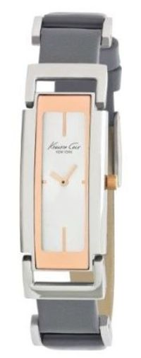 Kenneth Cole New York Women's KC2623 Petite Chic Classic Square Case with Ceramic Bezel Watch