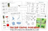 Free preschool and kindergarten early learning printables for the book, The Red Carpet by Rex Parkins.