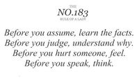 words to remember.