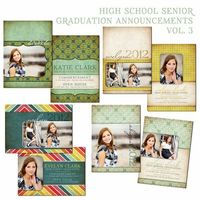 Graduation Announcements Vol 3 Photo Card by HeidiStockDigiDesign, $20.00