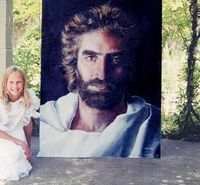 Beautiful painting of Jesus done by a young girl named Akiane Kramarik who claimed to have had a vision of Christ in heaven.