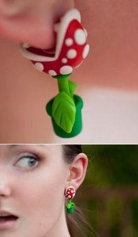 mario world earrings!