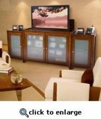 Brookside Cherry TV Lift Cabinet With Sides For Flat Screen TVs Up To 55""