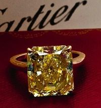Ginormous Cartier yellow diamond? Yes please.