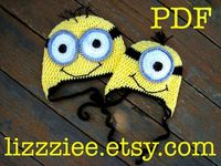 PDF Minion hat crochet PATTERN - fun winter hat and easy to make - despicable me movie