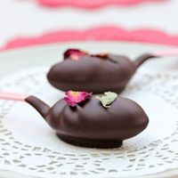 chocolate & roses truffle spoons