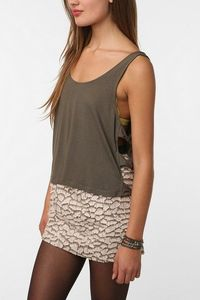 Pins and Needles Cropped Side Bow Tank $34.00