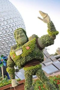 Buzz Lightyear temporary topiary for the Epcot Flower and Garden Festival