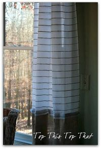 burlap and twine DIY curtains