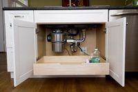 pull-out drawer under the sink. is it sad that this would make me really happy?
