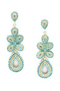Send the Trend - Daya Turquoise Earrings