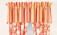 Valance in bright tropical colors.