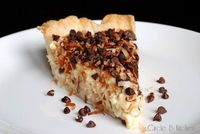 omg omg omg. Coconut Pie with Chocolate-Coconut Topping