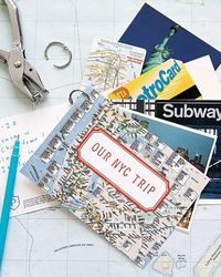 Vacation Keepsakes - Rather than sort through vacation memorabilia after a trip, create a keepsake as you go. Pack a hole punch and a loose-leaf ring to string together maps, postcards, and other souvenirs you collect on the road. When you get home, add a...