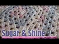Sugar & Shine Granny Square Baby Afghan - Baby's First Afghan Tutorial Video
