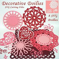 Doilies are all the rage in crafting right now and why not, their timeless elegance never goes out of style. These 8 SVG files have been optimized for cutting with your digital die cutting machine. They are designed to cut cleanly and rather quickly compa...