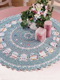 crocheted easter table topper download pattern