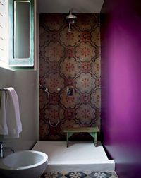 gorgeous eclectic shower.