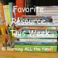 Weekly link-up: Resources of any type are fair game...books, videos/DVDs, websites, favorite television programs, computer games, field trip ideas, ideas for using old materials in a different way...anything that has worked well for your family.
