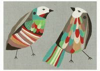 Inaluxe: love the colours in this birdie print