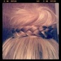 top knot with a braid