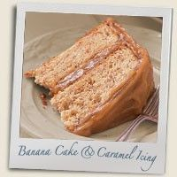 Banana Cake with Caramel Icing