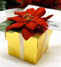 Twinkle and Twine: DIY: Poinsettia Gift Box Favors