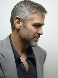 Clooney. Rugged. Gorgeous.