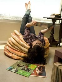 Pancake Floor Pillows. I would like these. :)