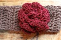 Quick and easy headband pattern with link to the original flower pattern. Great success.
