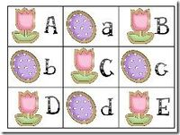 Free!! Spring ABC matching game! Fun reinforcer!