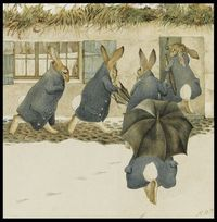 Beatrix Potter. The Rabbits' Christmas Party - The Arrival