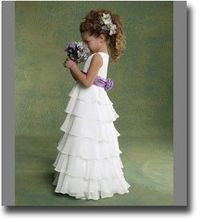 I love looking at flower girl dresses