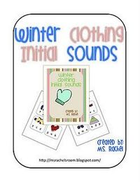 Winter Clothing Initial Sound Freebie Pinned by