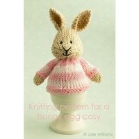 knitting pattern for a bunny egg cosy by Littlecottonrabbits, £2.25