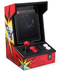 iCADE. This is an arcade cabinet for your ipad! You can add classic game apps and use the joystick.