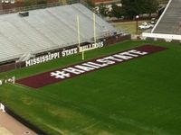 The endzone in Davis Wade during the 2011 Egg Bowl #hailstate
