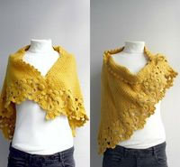 Mustard Yellow Capelet Shawl