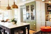 Love this color green for additional cabinets.