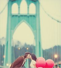 kiss on a bridge :)