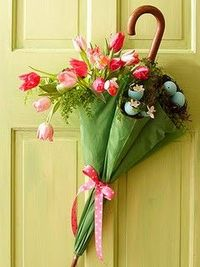cute spring time decor