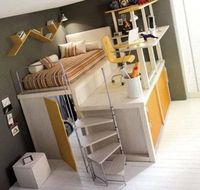 bed, desk and playhouse all in one!