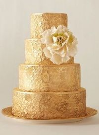 Gold Lace Wedding Cake Wedding Cakes Juxtapost